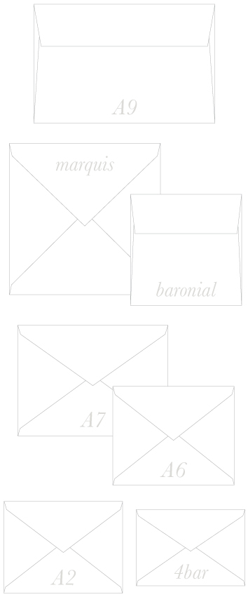 Envelope Sizes | A9, A7, A2, 4-bar