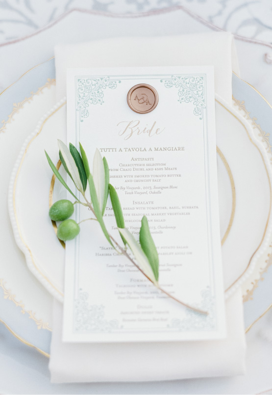 Anatomy of a Wedding Menu
