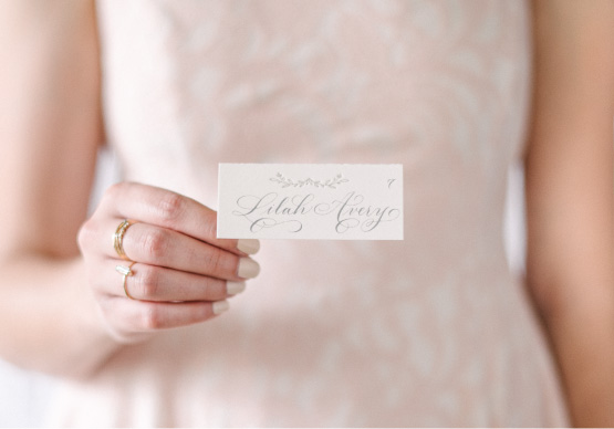 Anatomy of a Wedding Place Card