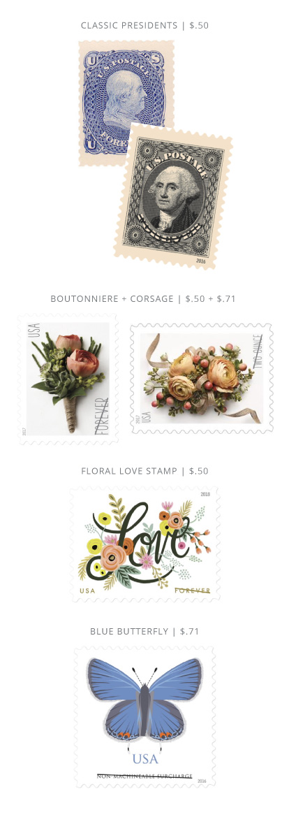 USPS Stamp Options