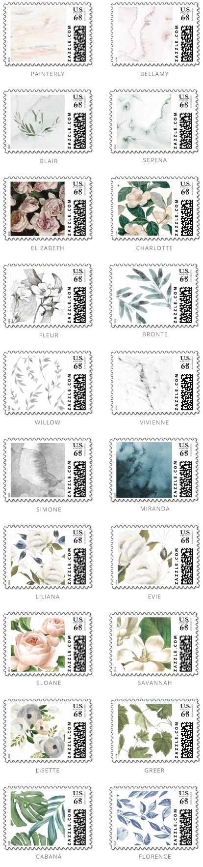 Custom Zazzle Stamp Options