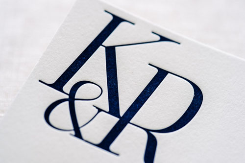 Alden Letterpress Wedding Invitation | Destination + Modern