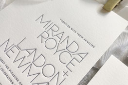 Alto Letterpress Wedding Invitation | Modern + Minimalist