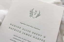 Amador Letterpress Wedding Invitation | Classic + Botanical