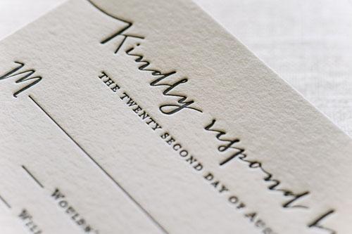 Amherst Letterpress Wedding Invitation | Modern