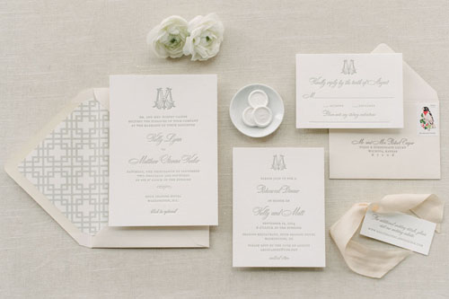 Blakeley Letterpress Wedding Invitation | Classic + Vintage