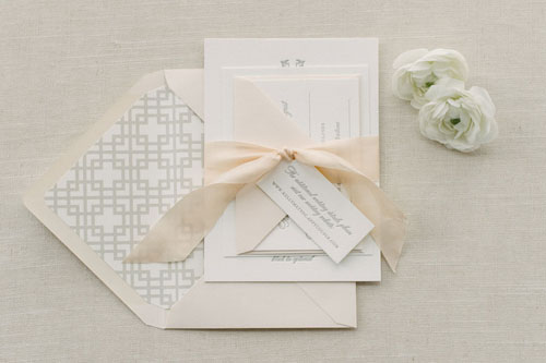 Blakeley Letterpress Wedding Invitation | Classic + Vintage