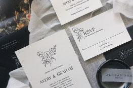 Blythe Letterpress Wedding Invitation | Minimalist + Modern