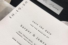 Bradshaw Letterpress Wedding Invitation | Modern + Minimalist