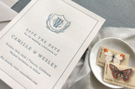 Callihan Letterpress Wedding Invitation | Classic + Traditional