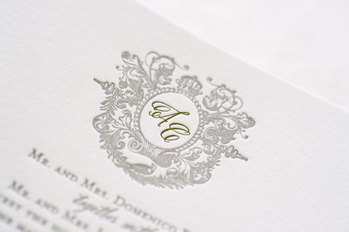Capulet Letterpress Wedding Invitation | Classic + Vintage