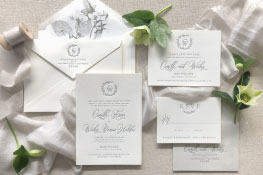 Carlisle Letterpress Wedding Invitation | Classic + Rustic