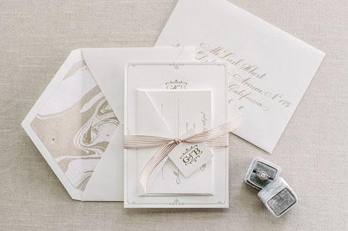 Coventry Letterpress Wedding Invitation   Classic + Vintage