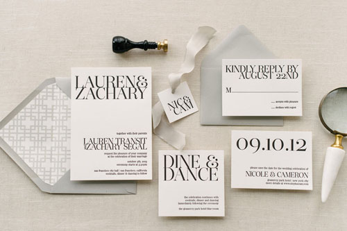 Gramercy Letterpress Wedding Invitation | Classic
