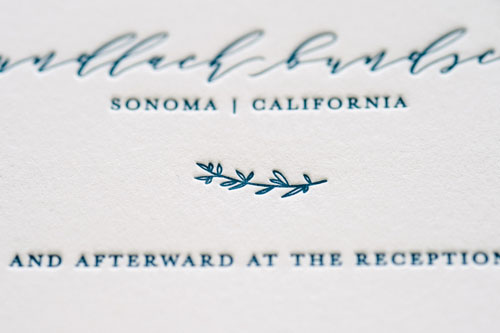 Hudson Letterpress Wedding Invitation | Destination + Modern