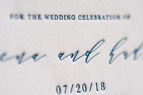 Hudson Letterpress Wedding Invitation | Destination + Modern