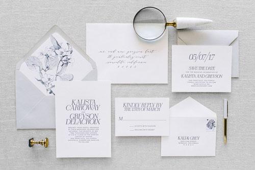 Kalista Letterpress Wedding Invitation | Destination + Modern