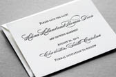 Lovely Letterpress Wedding Invitation | Classic
