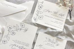 Montclair Letterpress Wedding Invitation | Modern + Natural