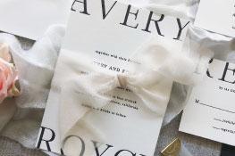 Perri Letterpress Wedding Invitation | Minimalist + Modern