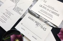 Quinn Letterpress Wedding Invitation | Whimsical + Destination