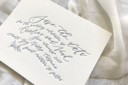 Rivers Letterpress Wedding Invitation | Natural + Modern