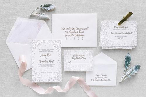 Stella Letterpress Wedding Invitation | Modern
