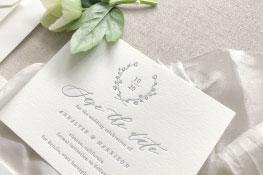 Whittier Letterpress Wedding Invitation | Botanical + Contemporary