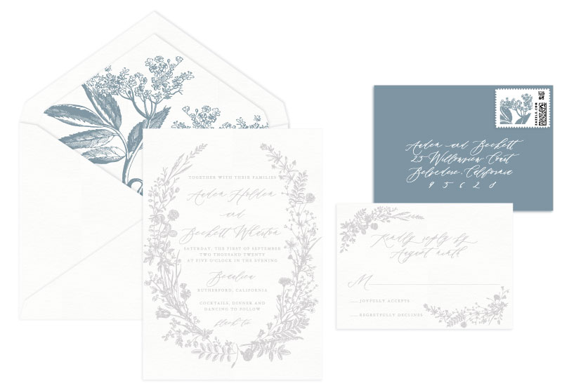 Brynn Letterpress Wedding Invitation | Rustic