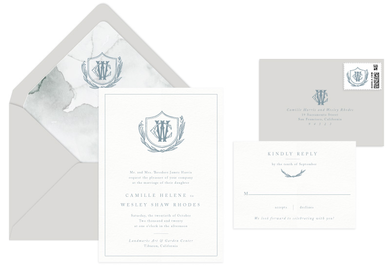 Callihan Letterpress Wedding Invitation | Classic + Traditional