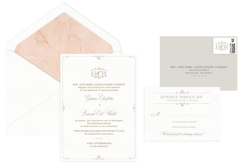 Coventry Letterpress Wedding Invitation | Classic + Vintage