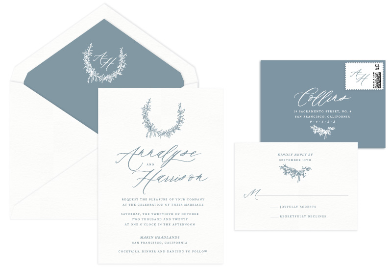 Gentry Letterpress Wedding Invitation | Classic + Modern