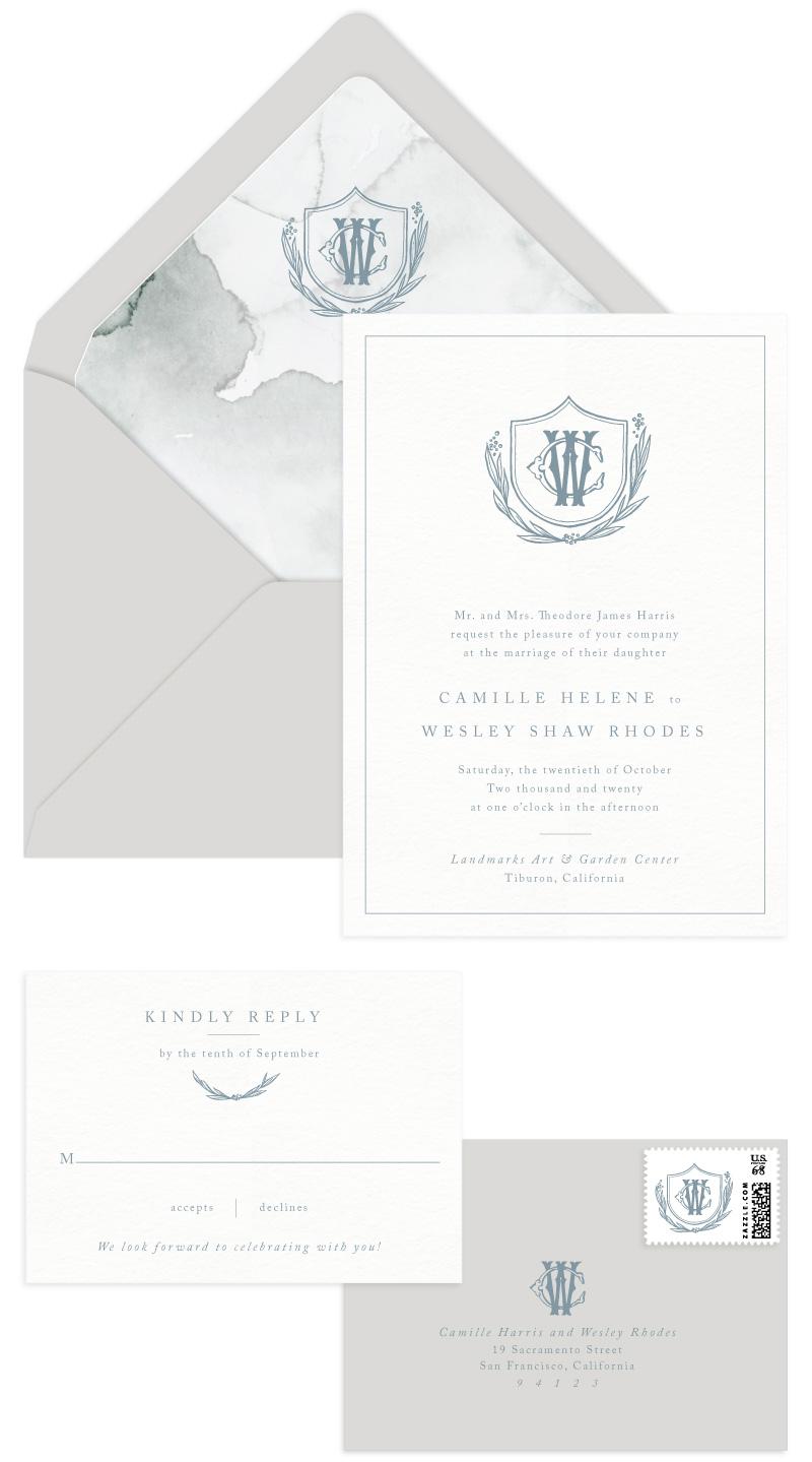 Callihan Letterpress Wedding Invitation