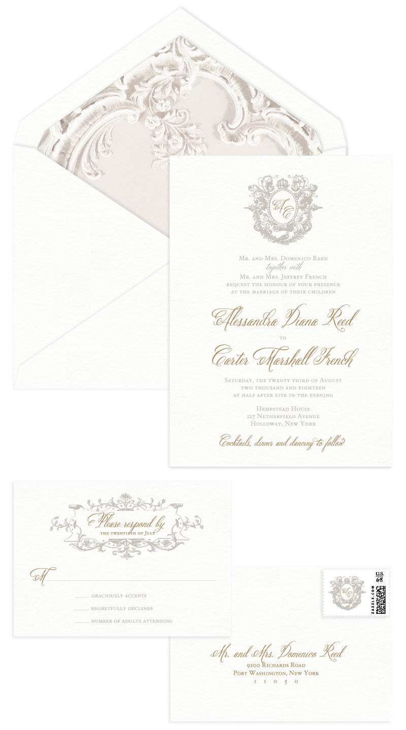 Capulet Letterpress Wedding Invitation