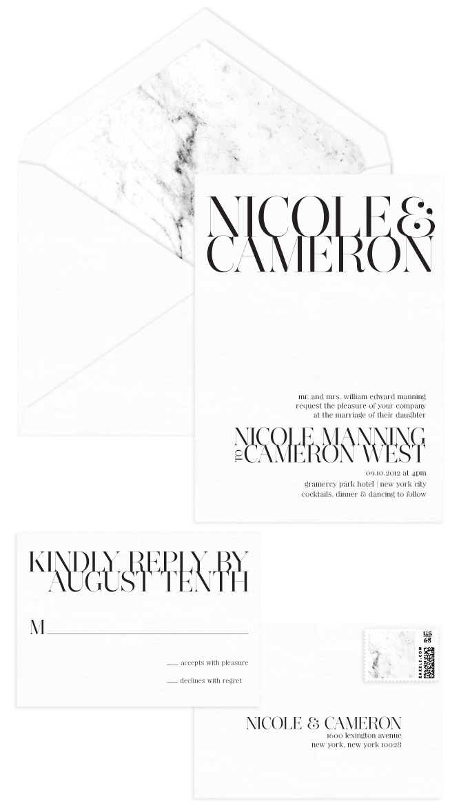 Gramercy Letterpress Wedding Invitation