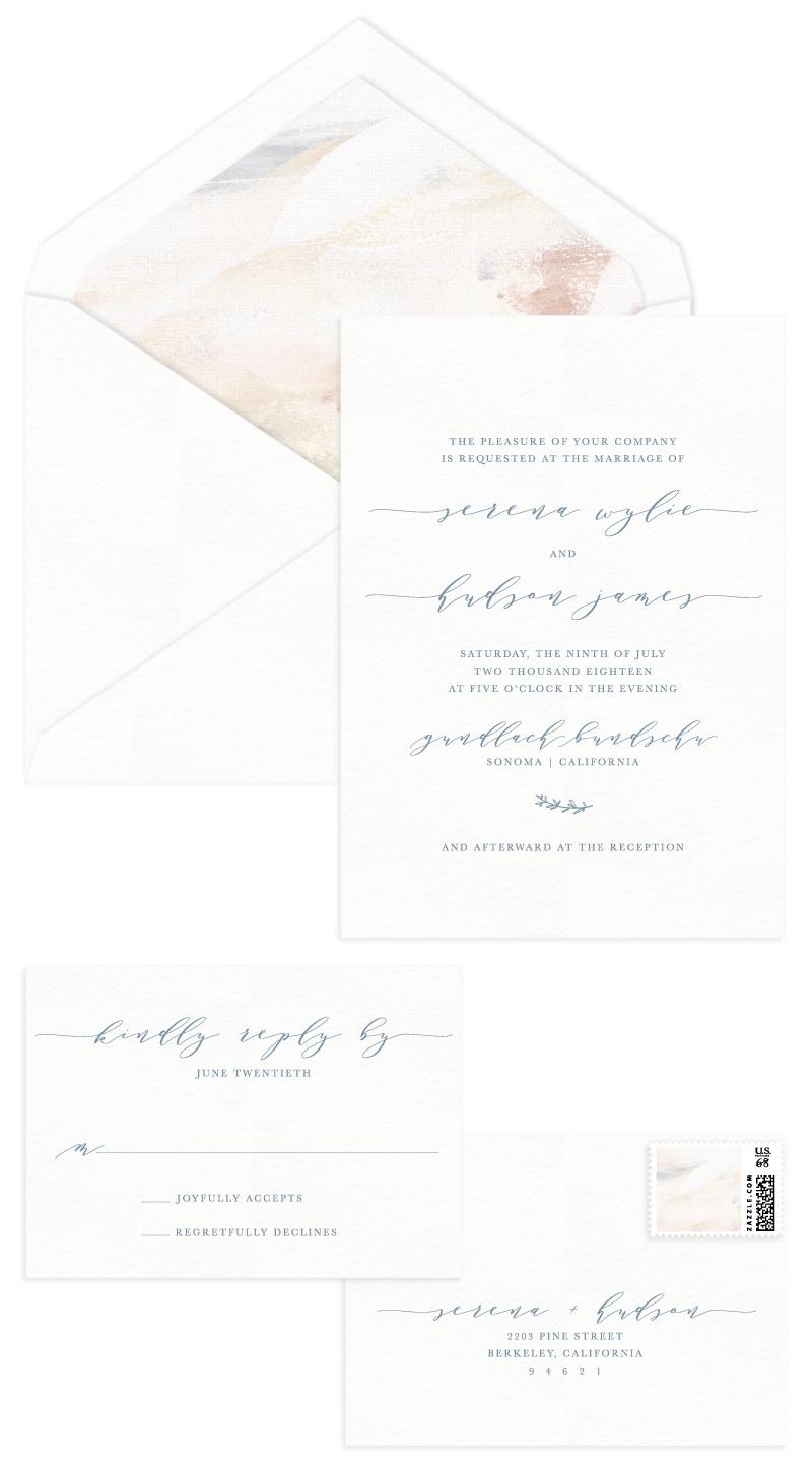 Hudson Letterpress Wedding Invitation