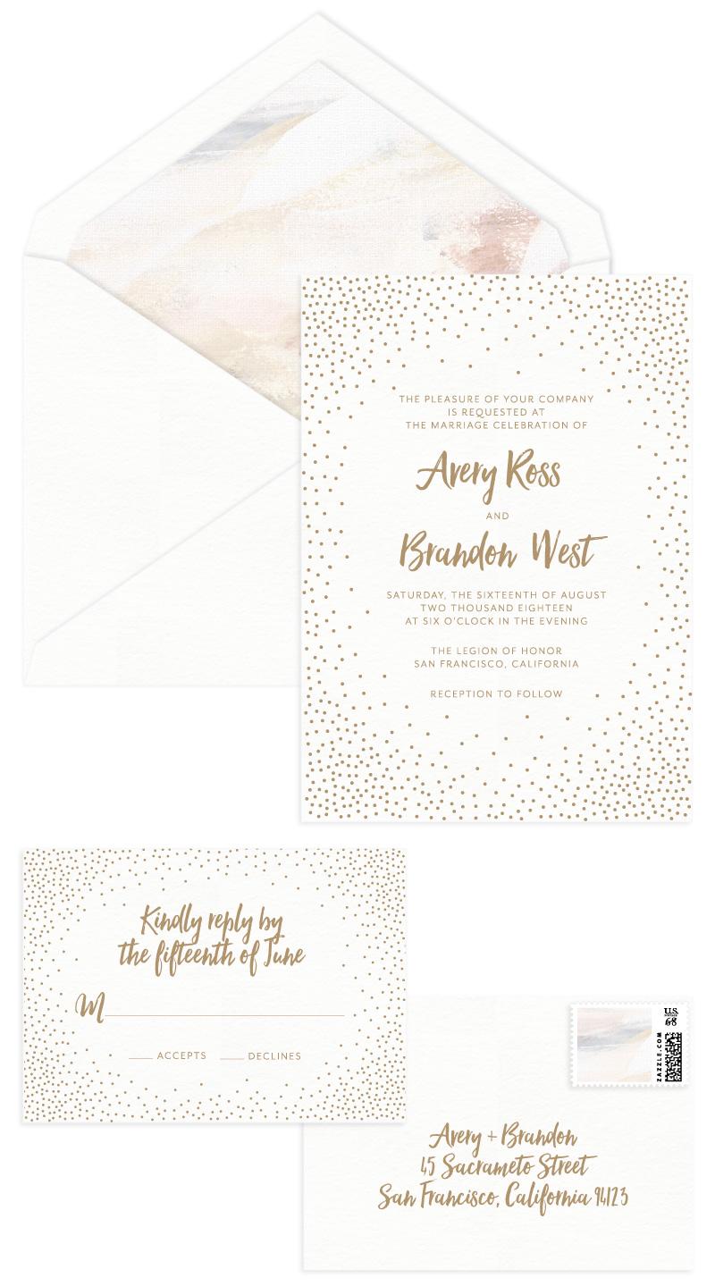 Stella Letterpress Wedding Invitation
