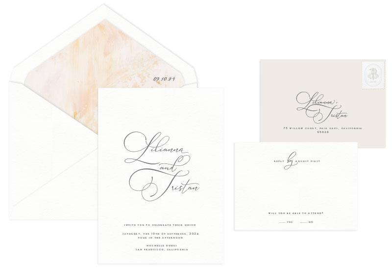 Ace Letterpress Invitation Design